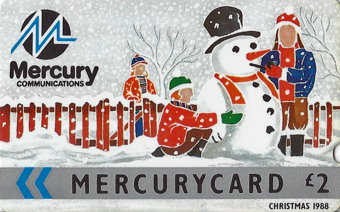 Mercurycard- a rival to BT, operated payphones using GPT magnetic cards in London in 1988 and extended operations to other cities and towns in the UK. 1988