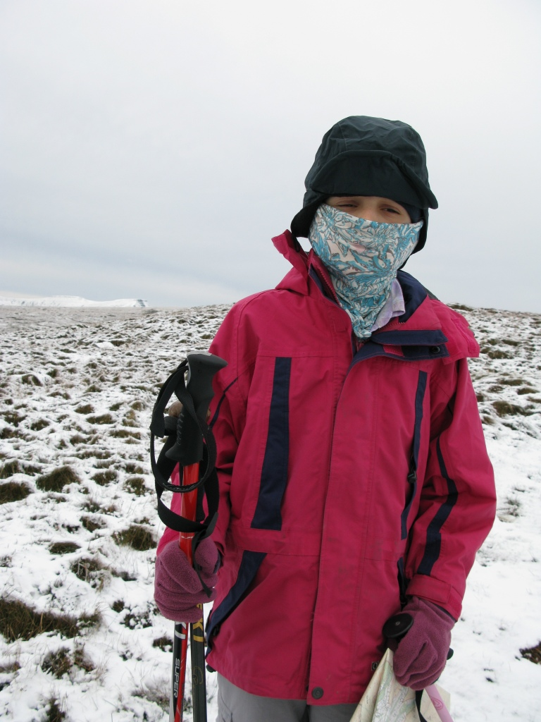 One of my Lowe Alpine Mountain Caps was lent to Miss Three Points of the Compass while we hiked the Brecon Beacons in 2008
