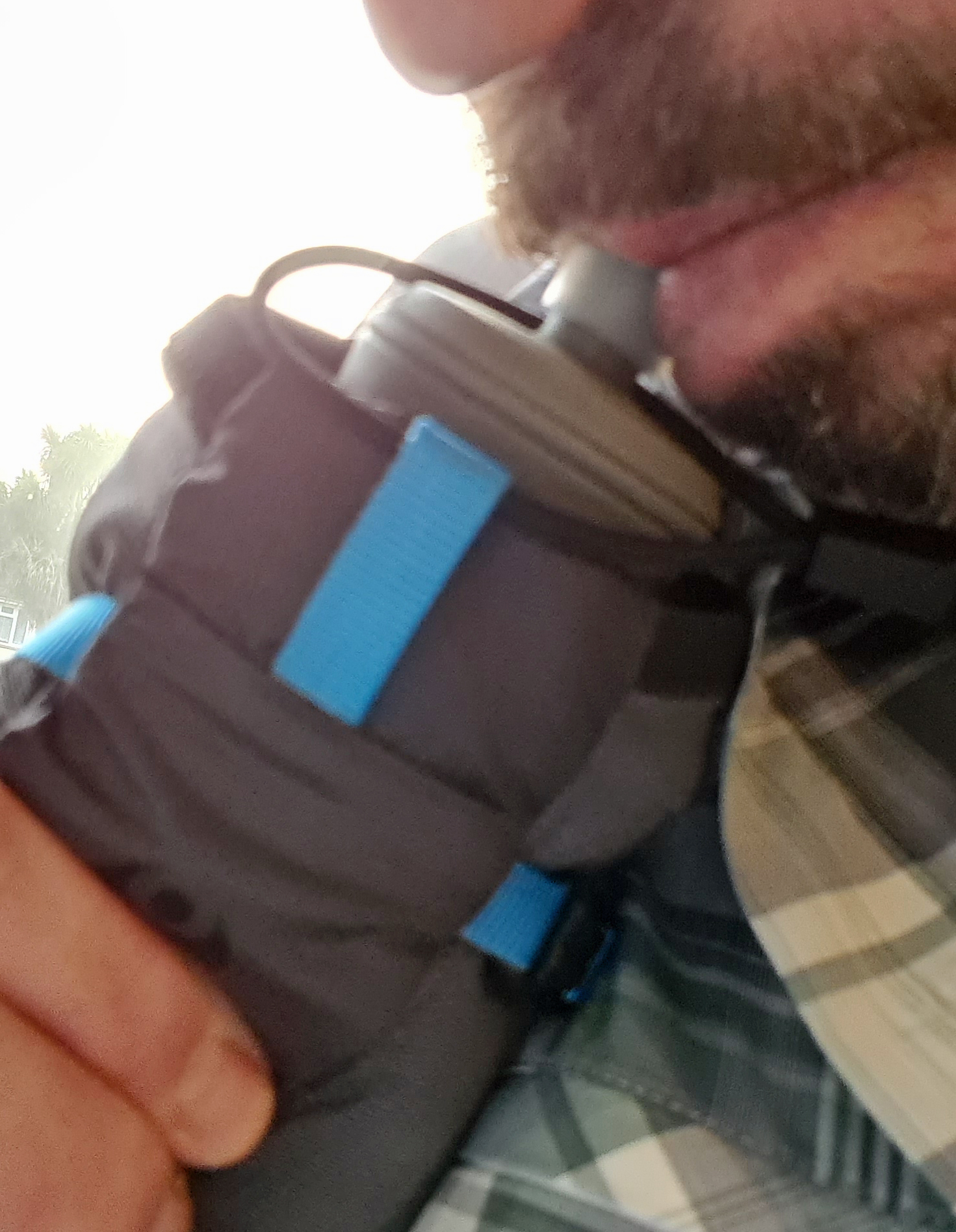 a squeeze and easy drinking from collapsible flask