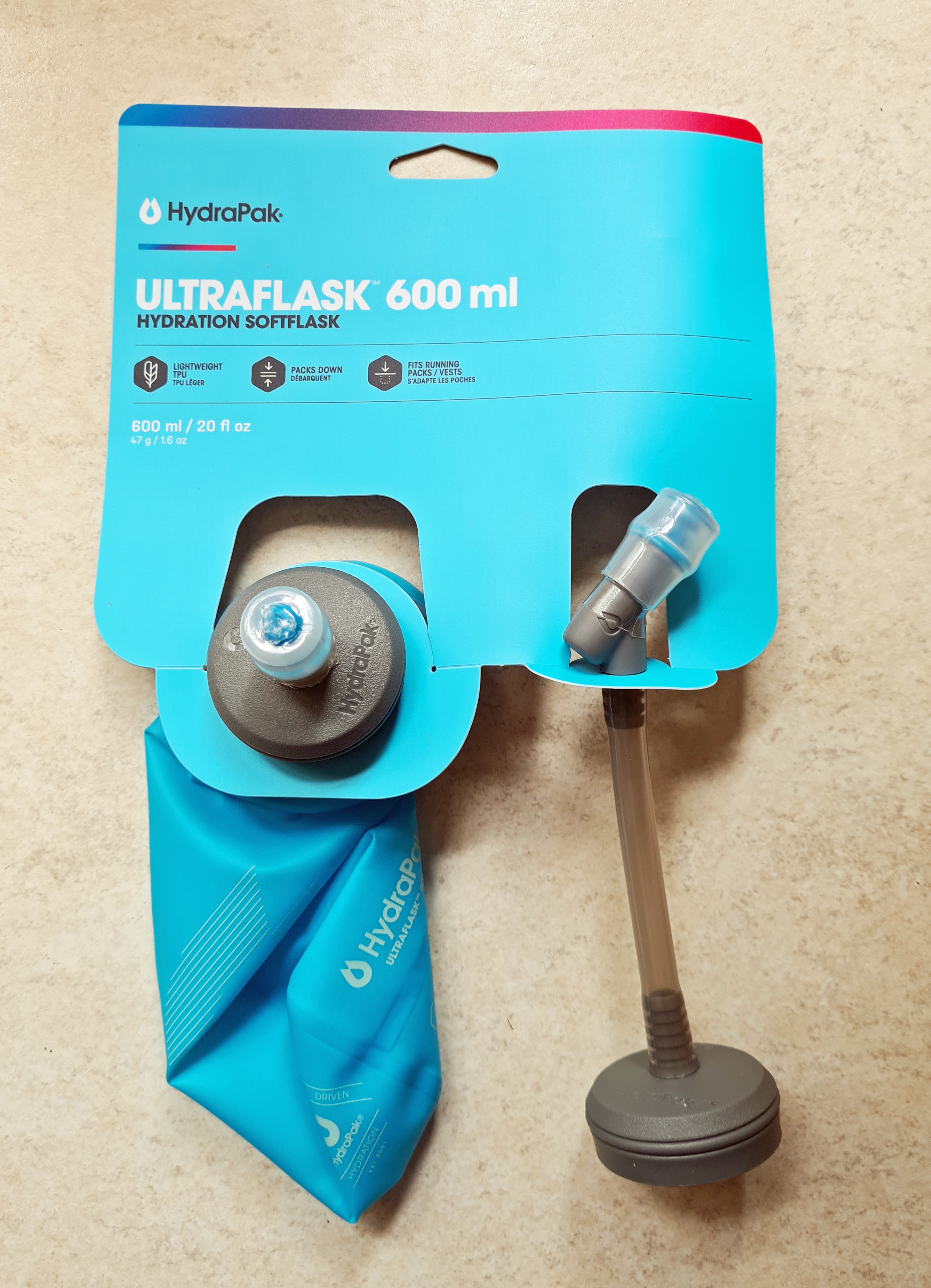 HydraPak Ultraflask- this is the 600ml