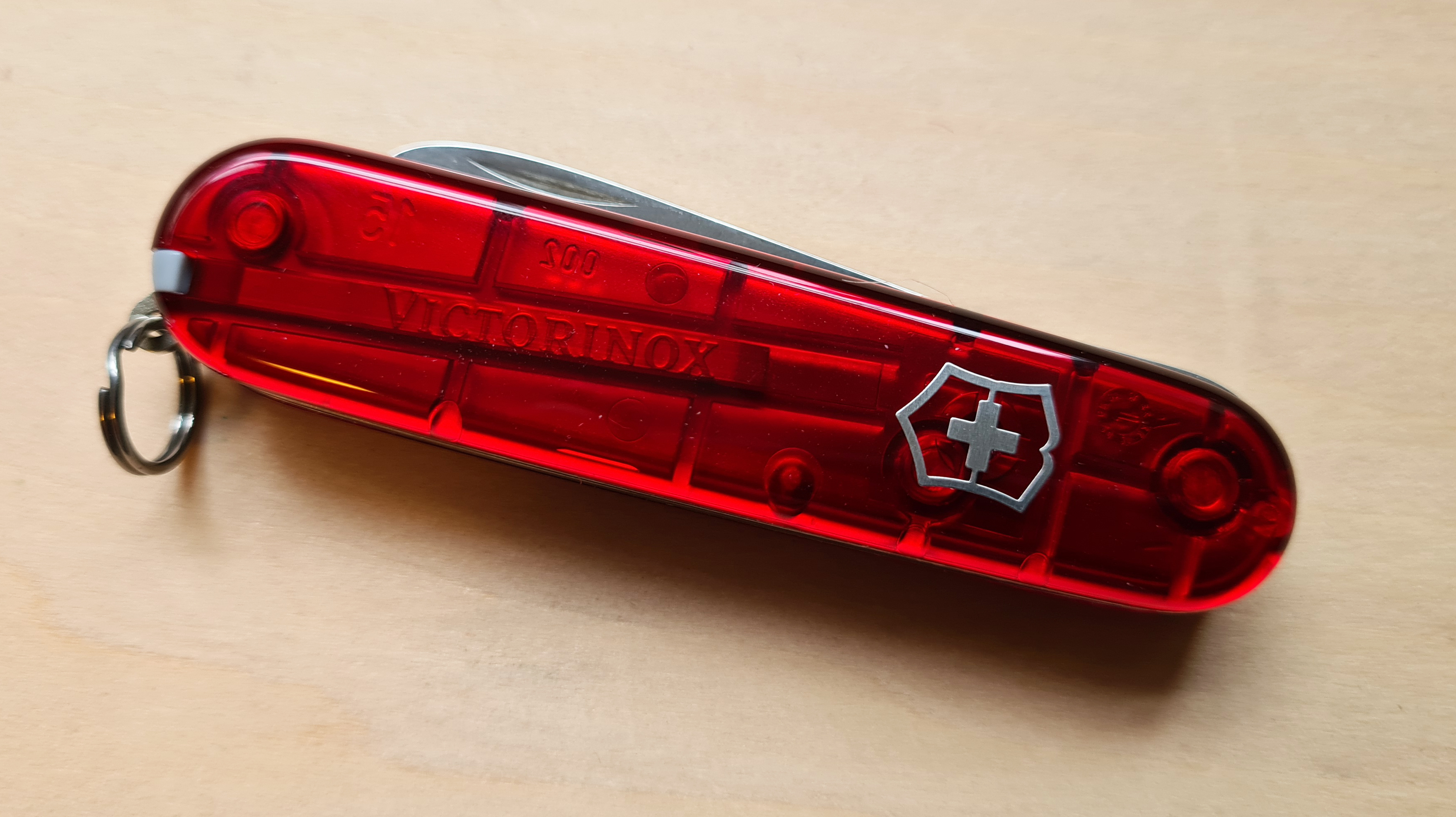 tweezers in scale of My First Victorinox Plus