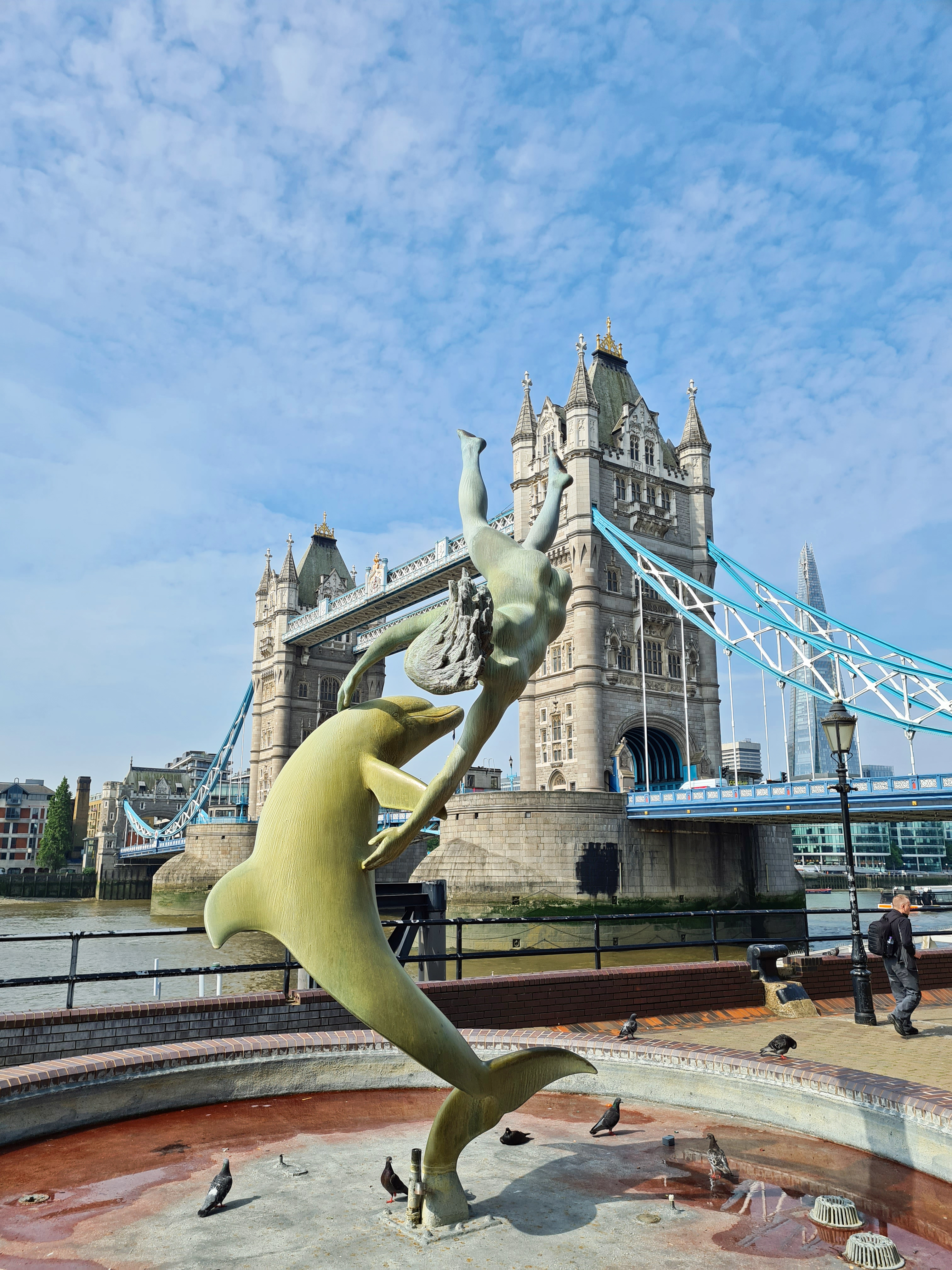 Girl with a Dolphin, by David Wynne