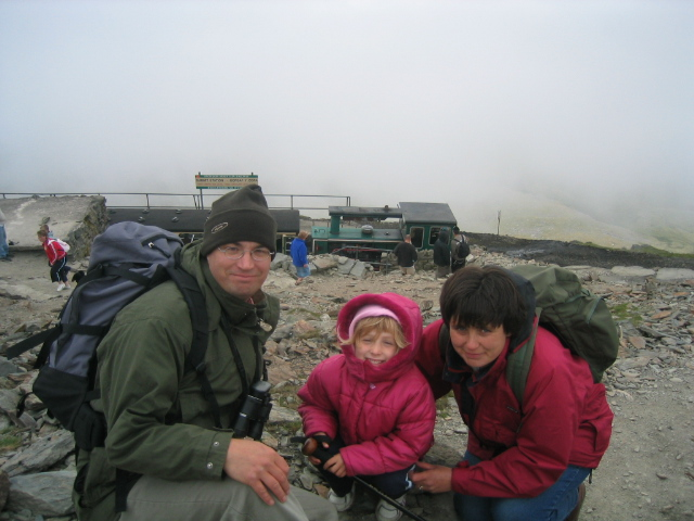 Snowdonia was another National Park introduced early on to Miss Three Points of the Compass. Perhaps a cliche, but a sole choice of image is of the three of us on the summit of Mount Snowdon