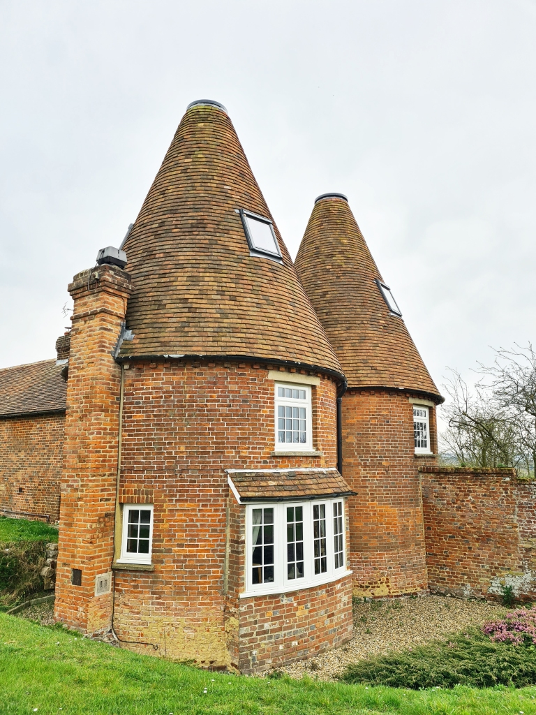 Oast houses, sans cowls