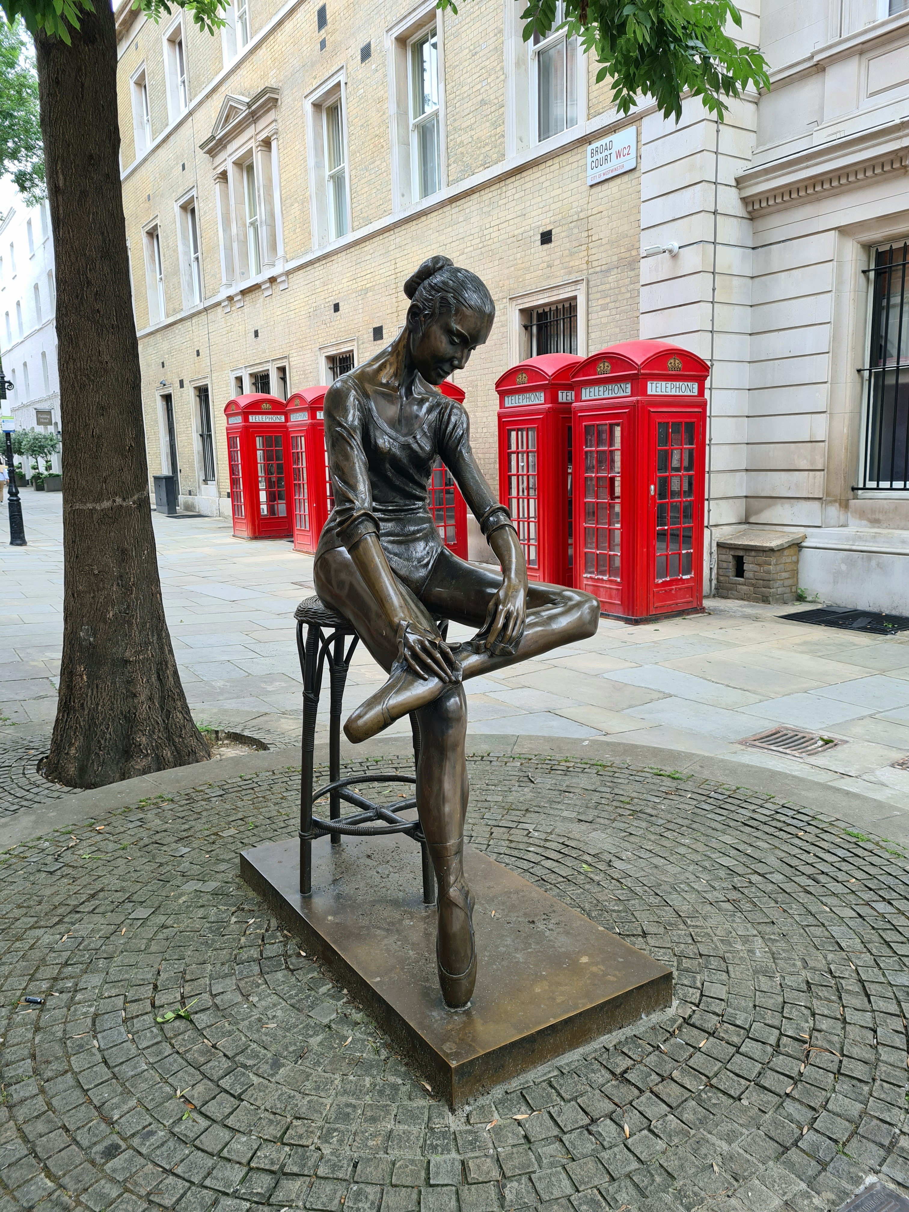 Young Dancer by Enzo Plazzotta. Broad Court, opposite Royal Opera House