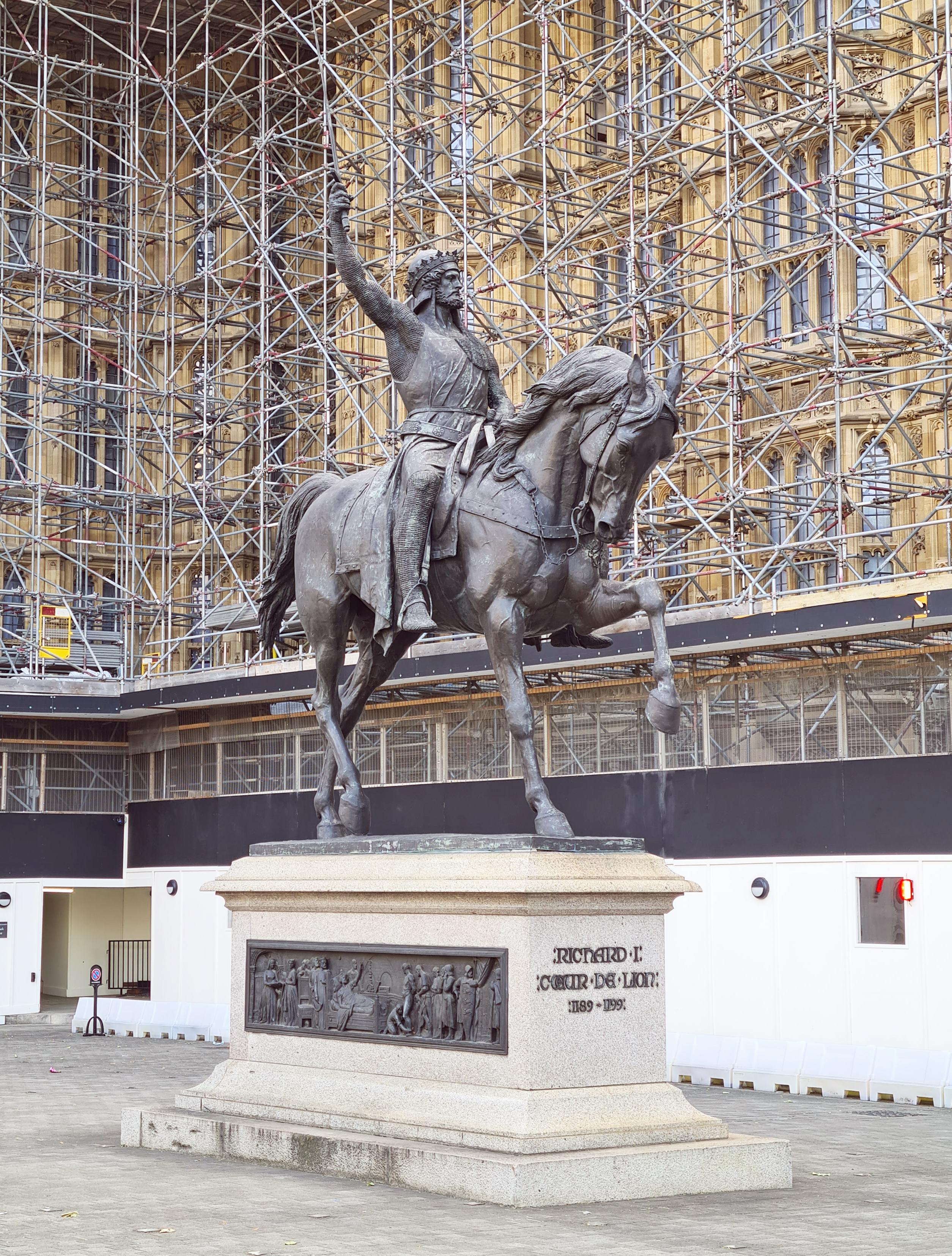 Richard Coeur de Lion (Richard the Lionheart). Baron Carlo Marochetti. Old Palace Yard, Palace of Westminster