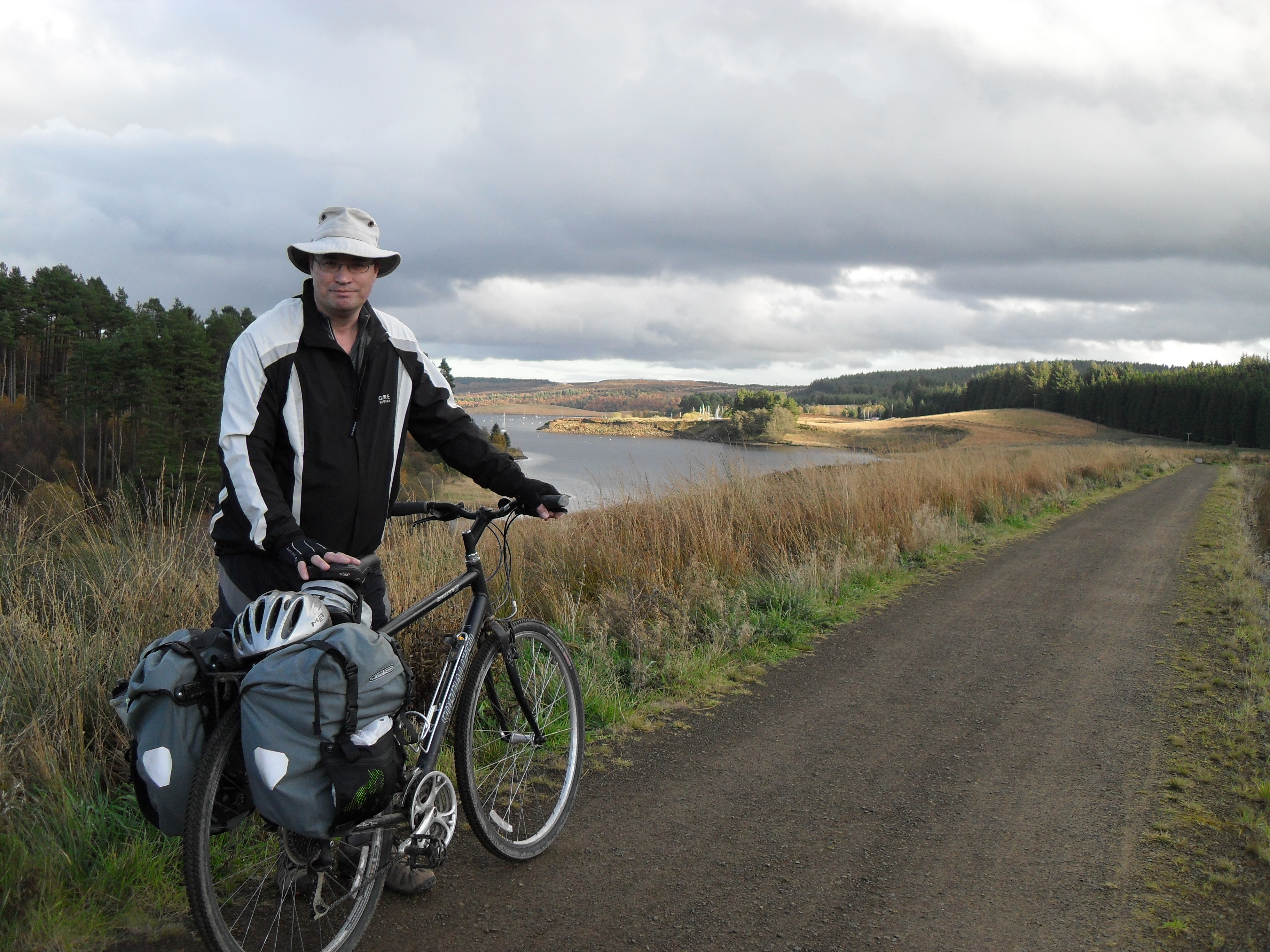 Northumberland National Park was established 6 April 1956 and covers 405 square miles but it really a park of two halves. Our family explored much of the North East Cheviots by cycle