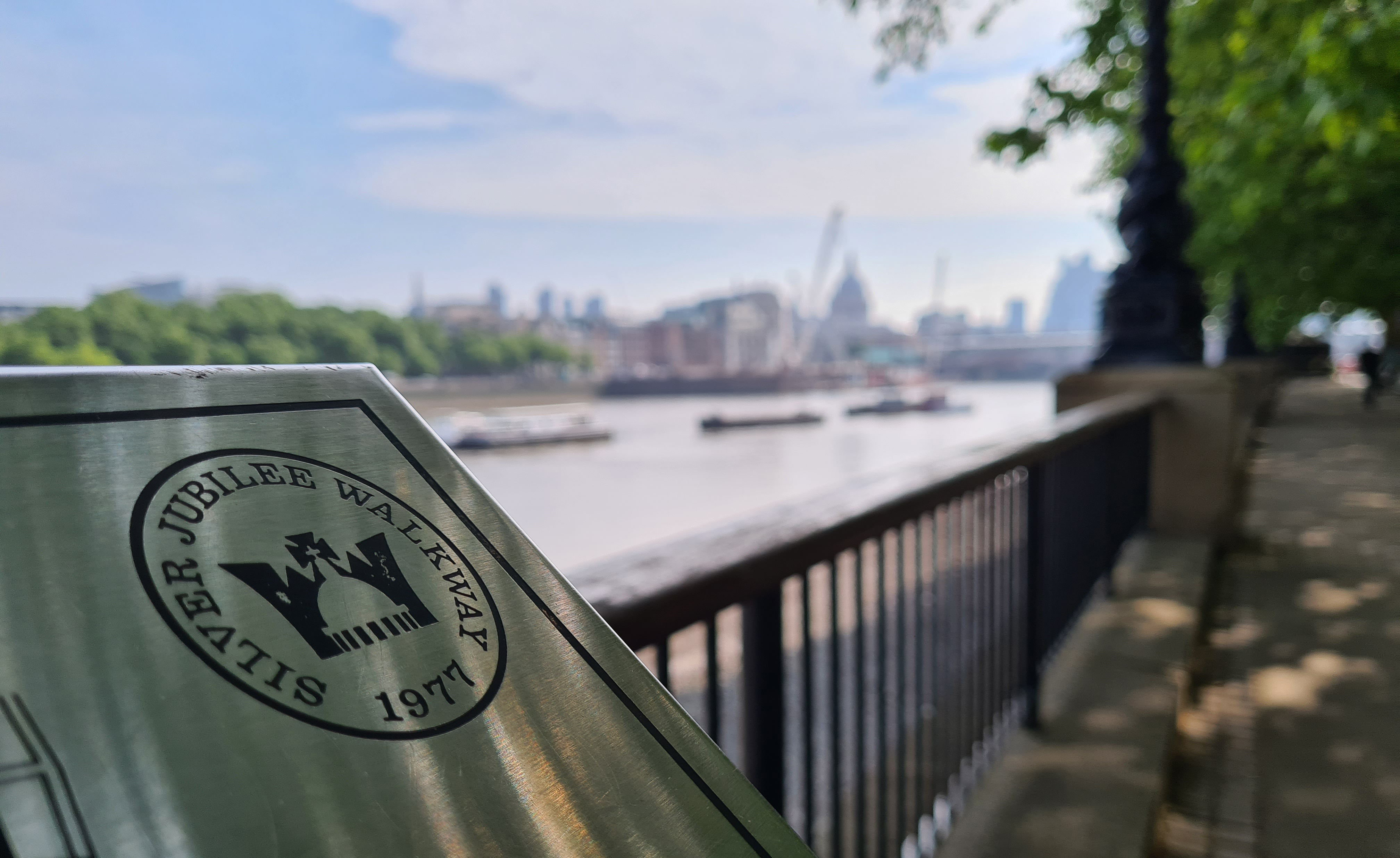 One of the panoramic panels on the Jubilee Walkway, The Queens Walk