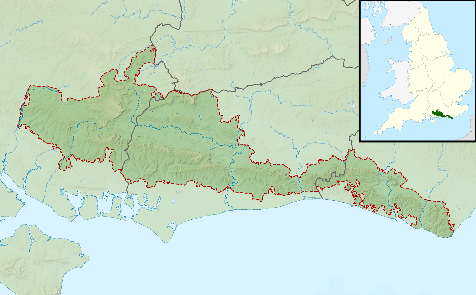 The South Downs were designated a National Park on 31 March 2010