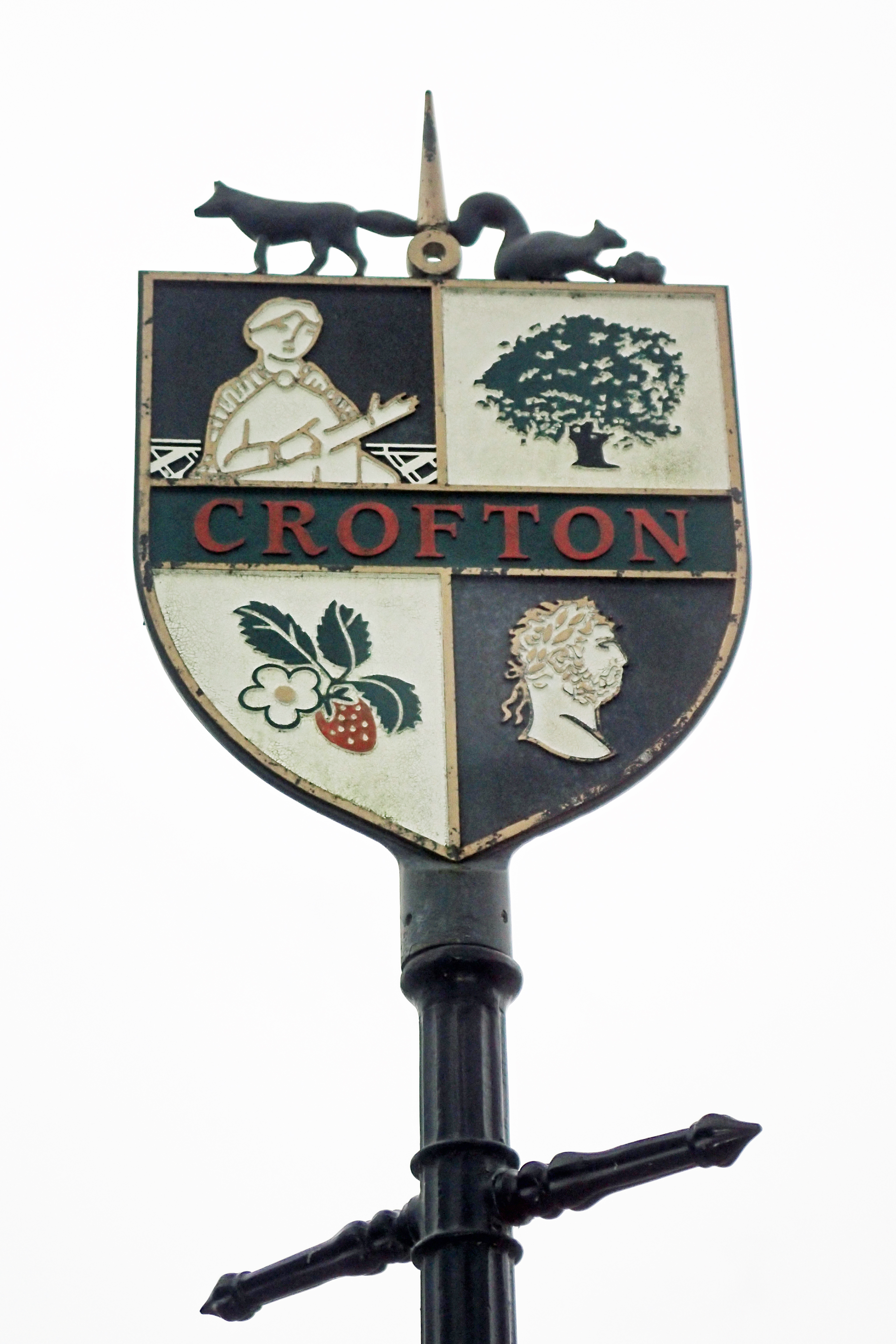 Crofton village sign, passed on the London LOOP