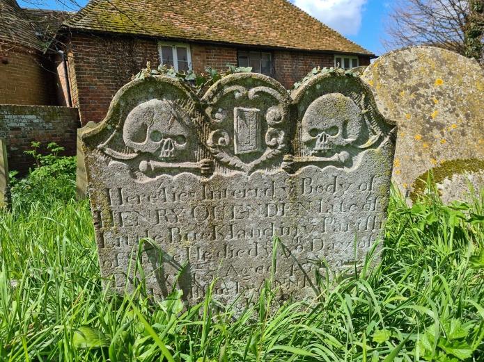 Headstone in Luddenham churchyard