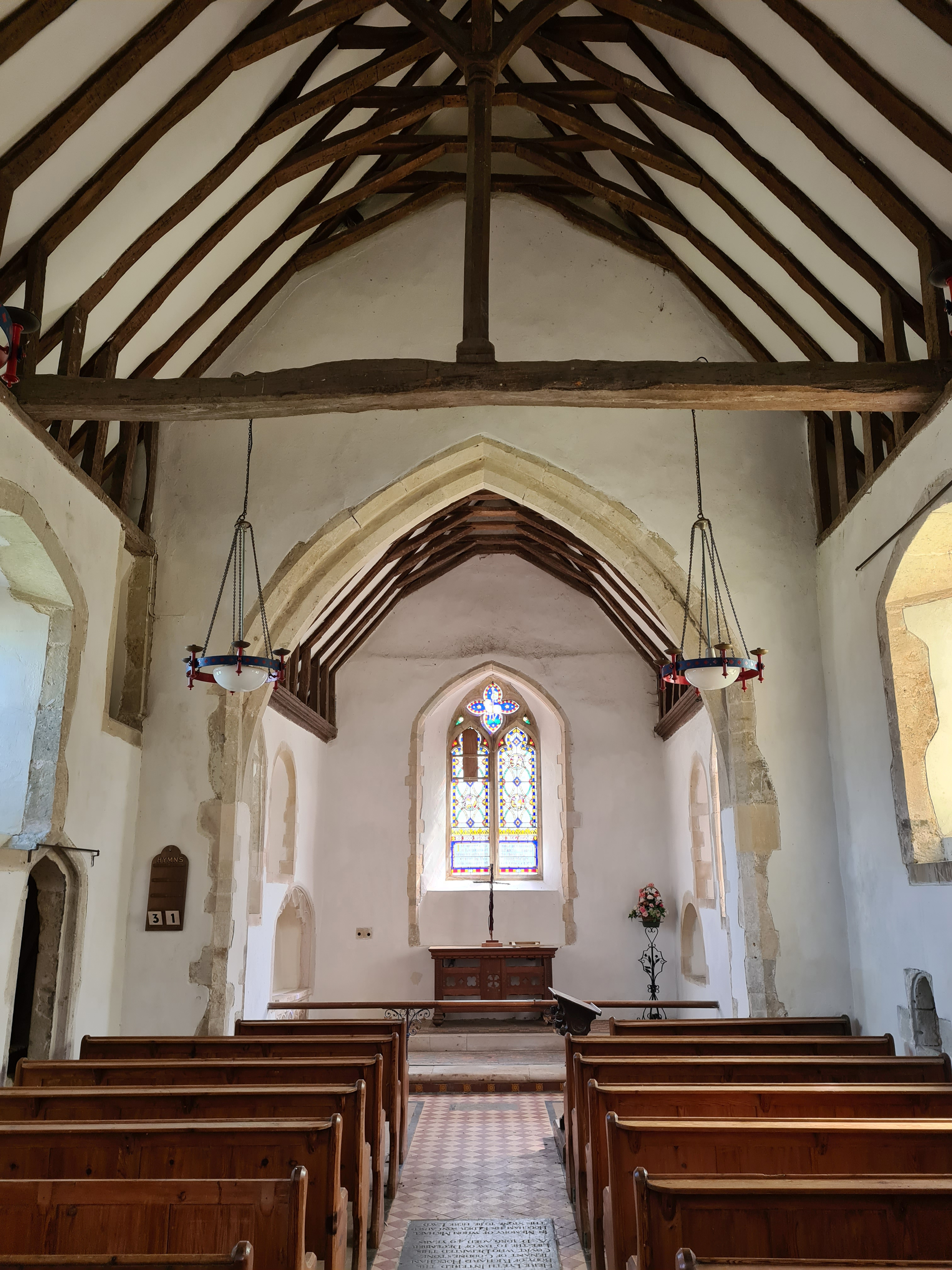 Simple interior of St. Bartholomew's
