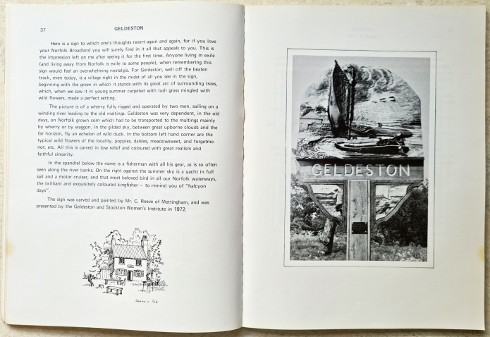 Village and Town Signs in Norfolk (book one), inside