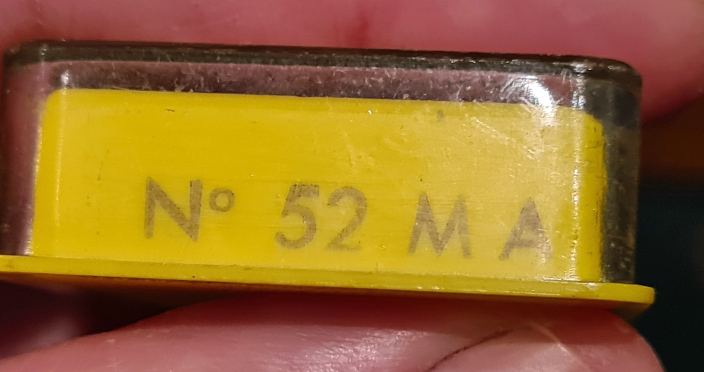 Model No. is found on one end of the box holding each measurer