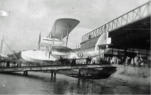 Shorts Seaplane being launched at Rochester