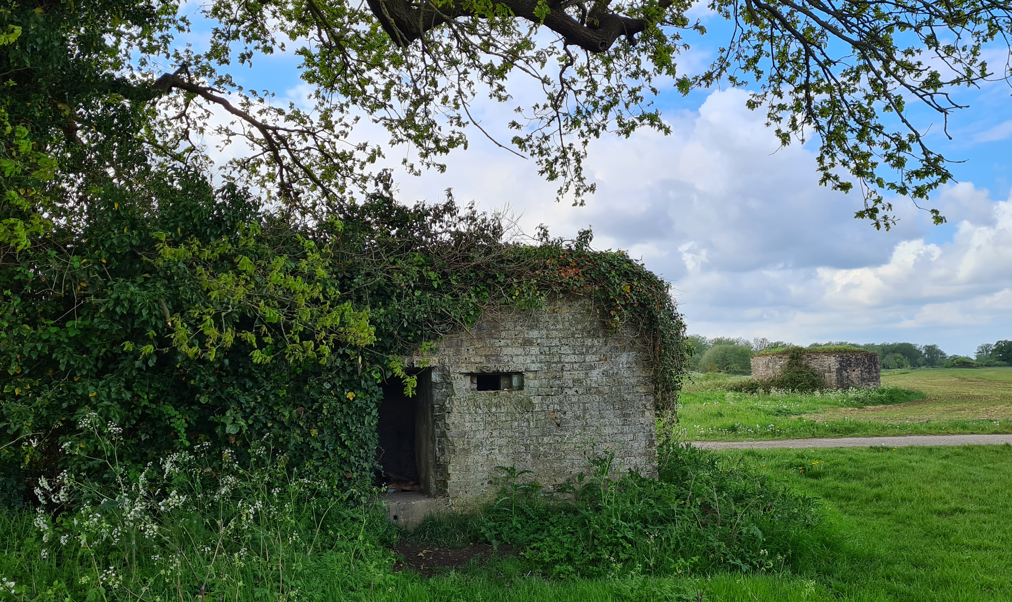 wo wartime pill boxes adjacent to East Lock on the River Medway