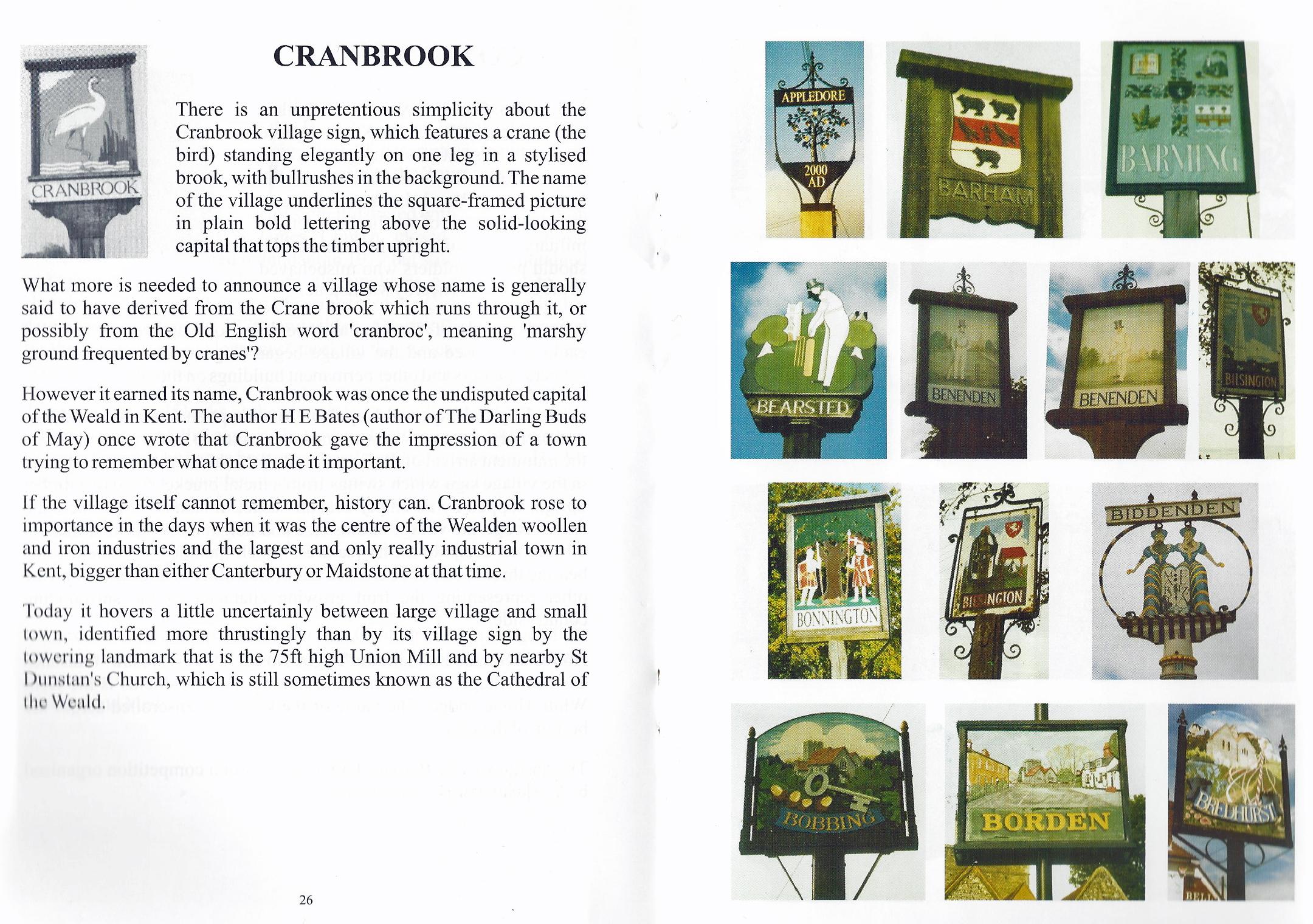 Kent Village Signs, book 1, inside
