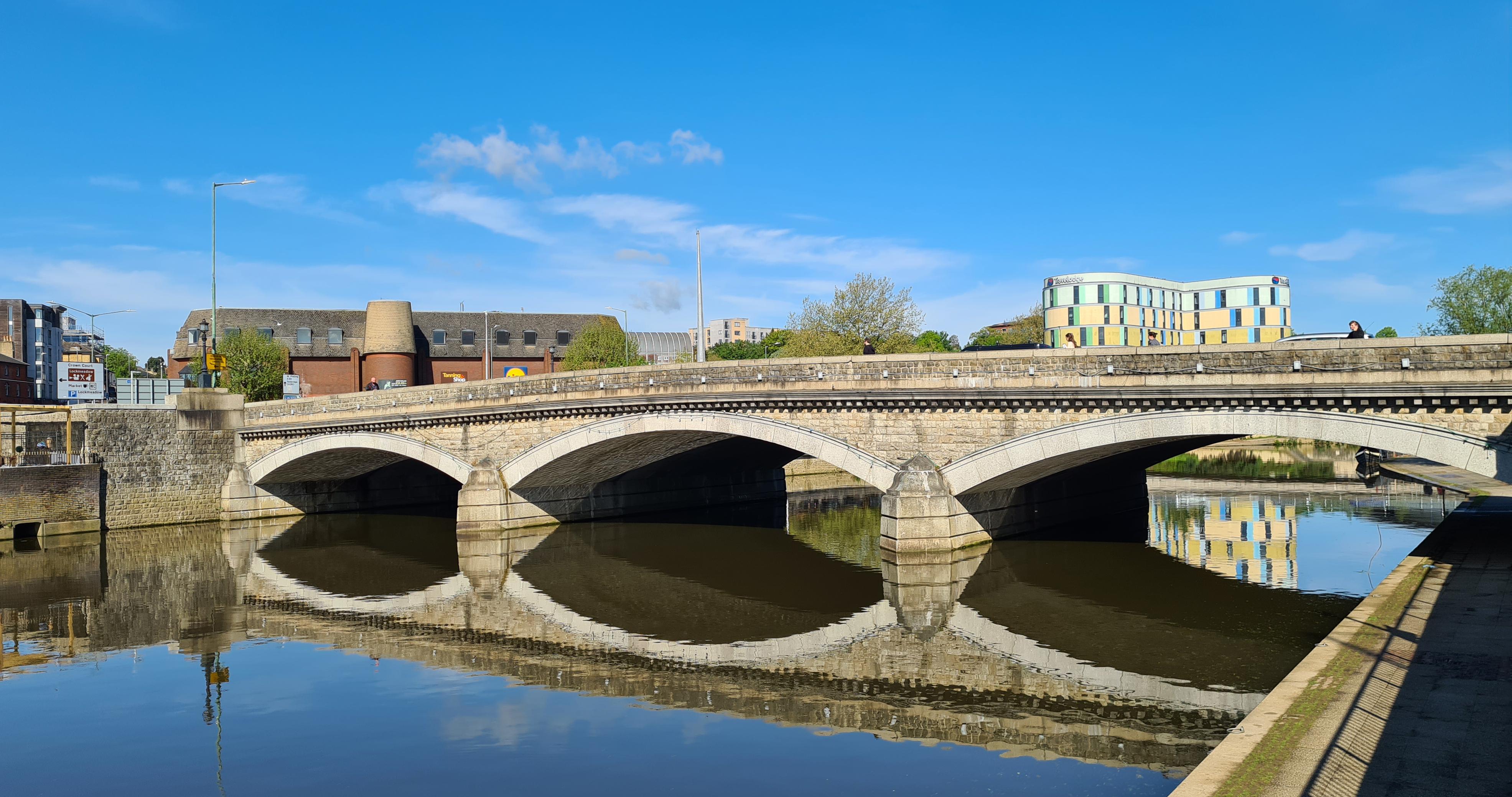 The major bridge in Maidstone