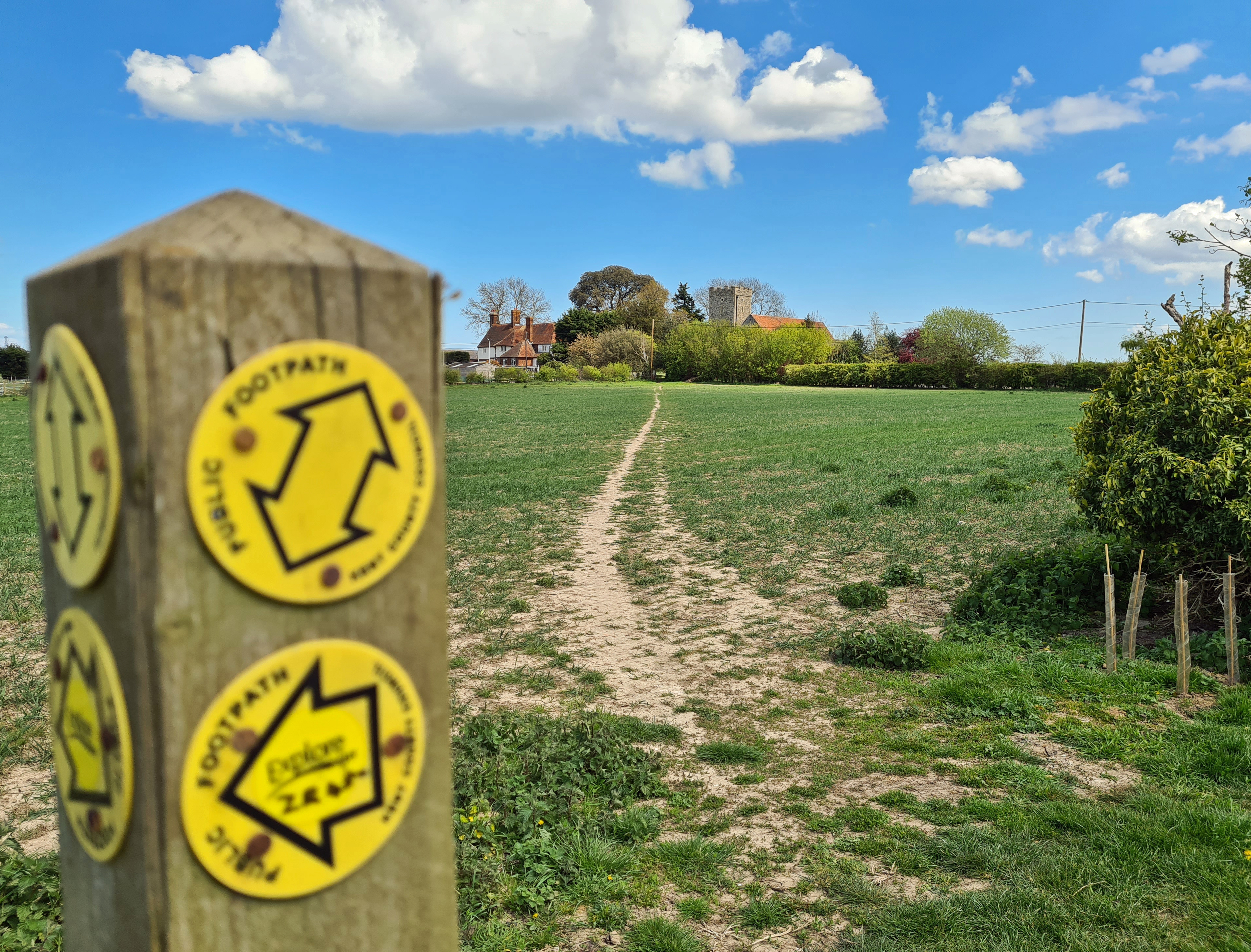 My trail was very much a series of paths across agricultural fields and along quiet roads linking hamlets and isolated churches.
