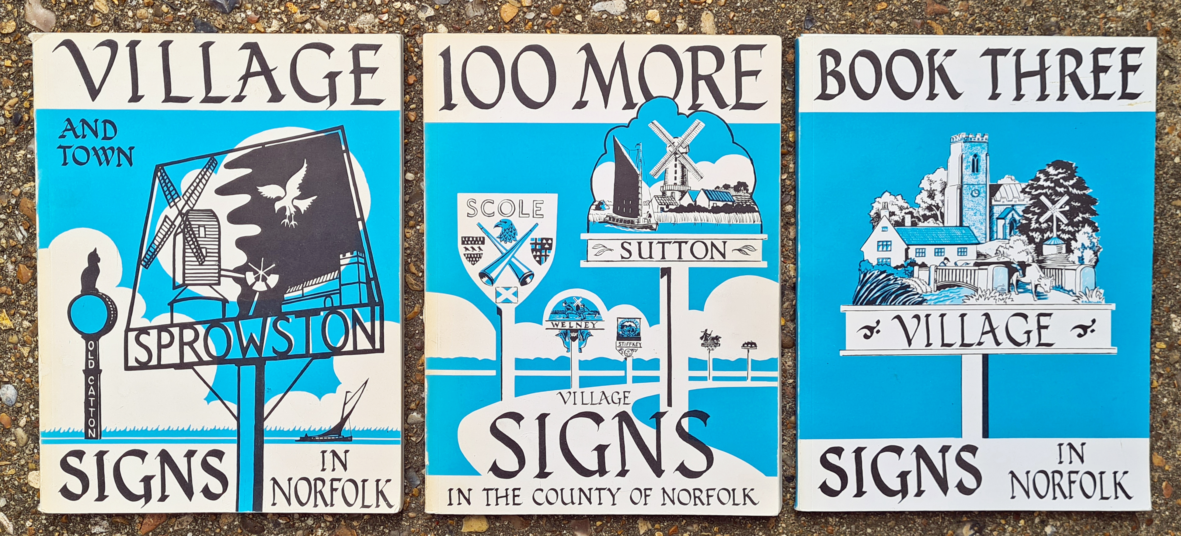 The first books to cover the subject of Village Signs was produced by acknowledged experts on the subject, Francis Procter and Philippa Miller. First printed in 1973, 1979 and 1983, and reprinted many times since, these books not only led the way but showed how a subject should be covered