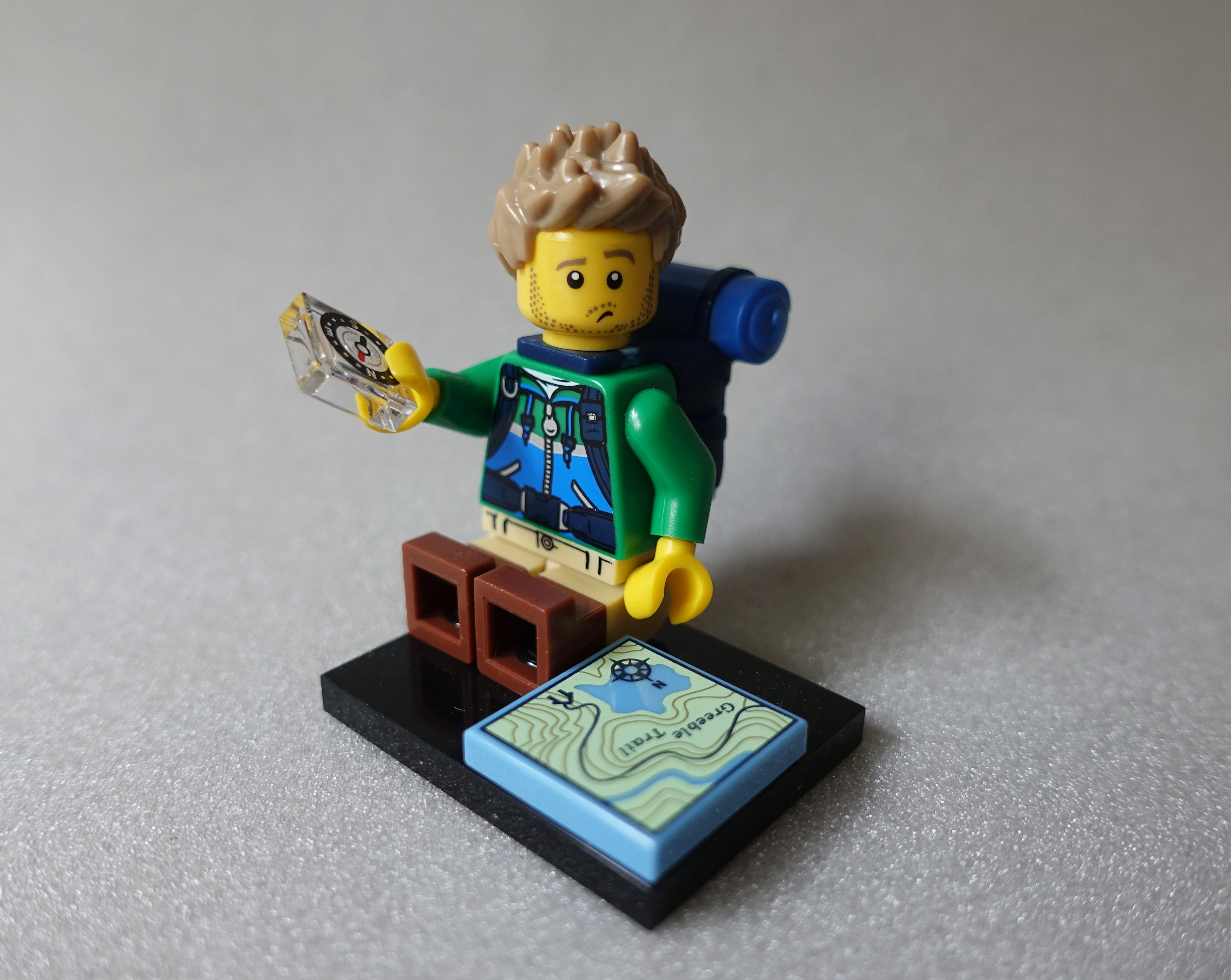 Lego Hiker is locationally embarrased