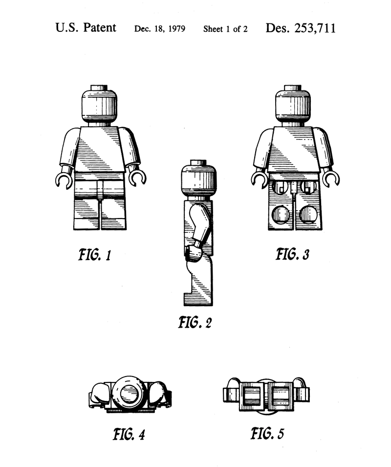 US Patent from 1979 for Lego Minifigure