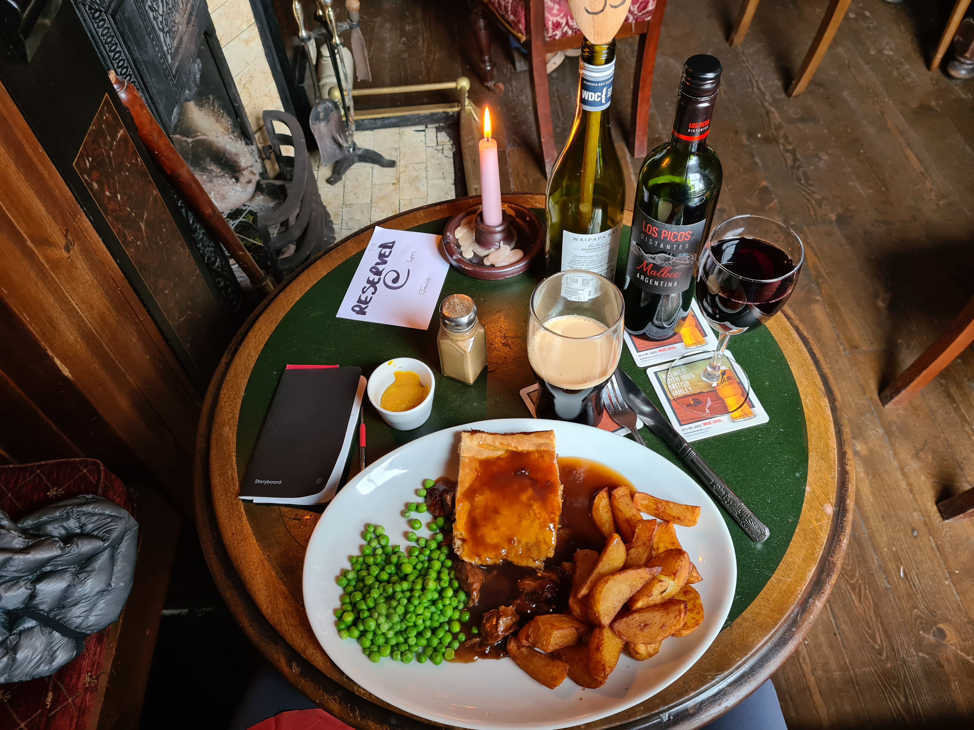 Steak and Ale Pie, plus muscle relaxant