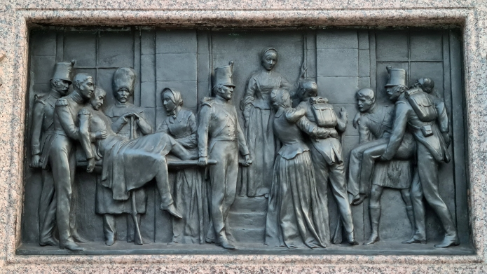 Florence Nightingale, plinth relief, one