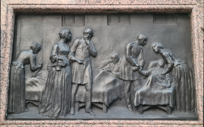 Florence Nightingale, plinth relief, two