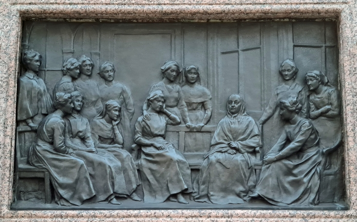 Florence Nightingale, plinth relief, four