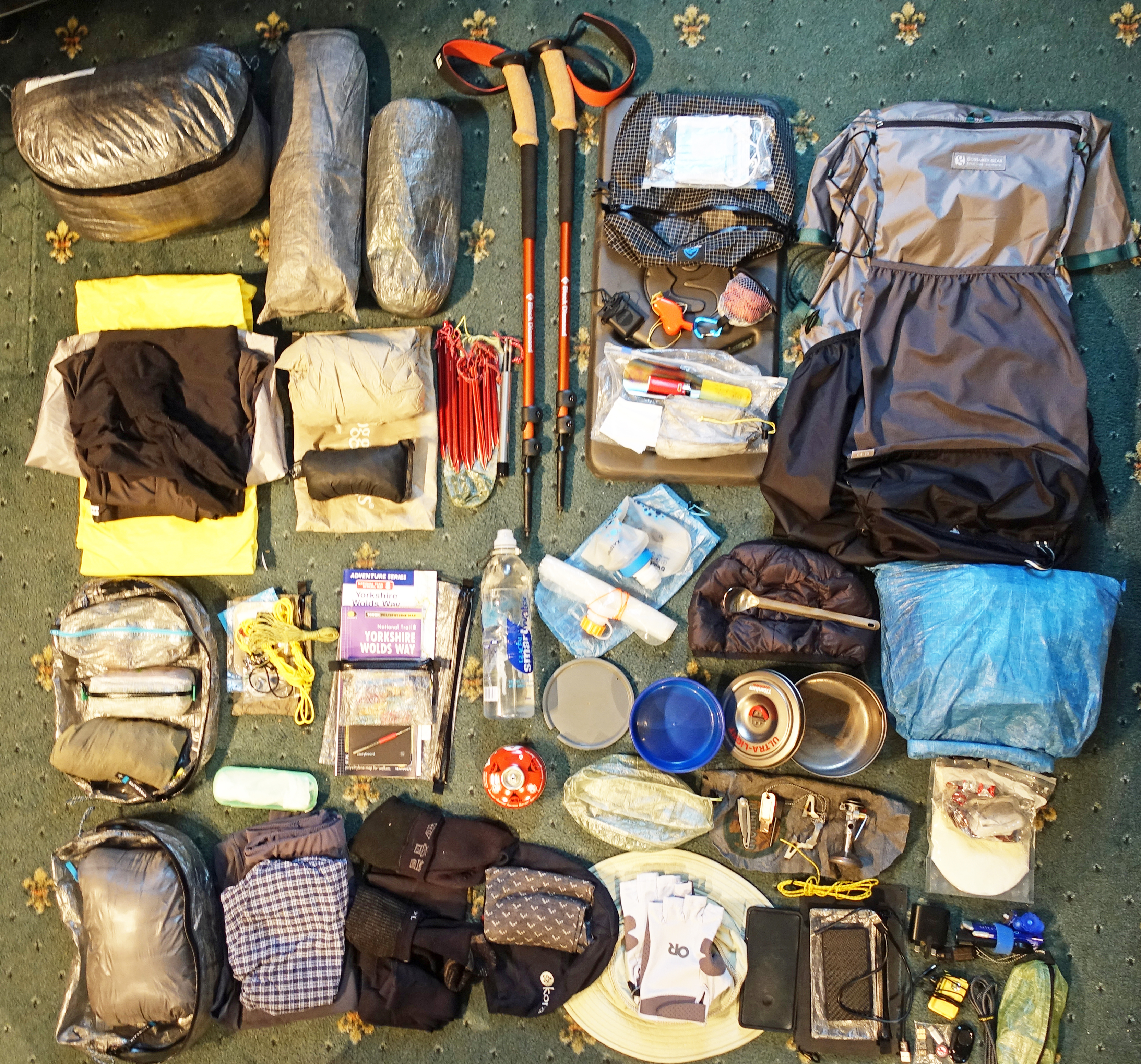 Backpacking gear for the Yorkshire Wolds Way