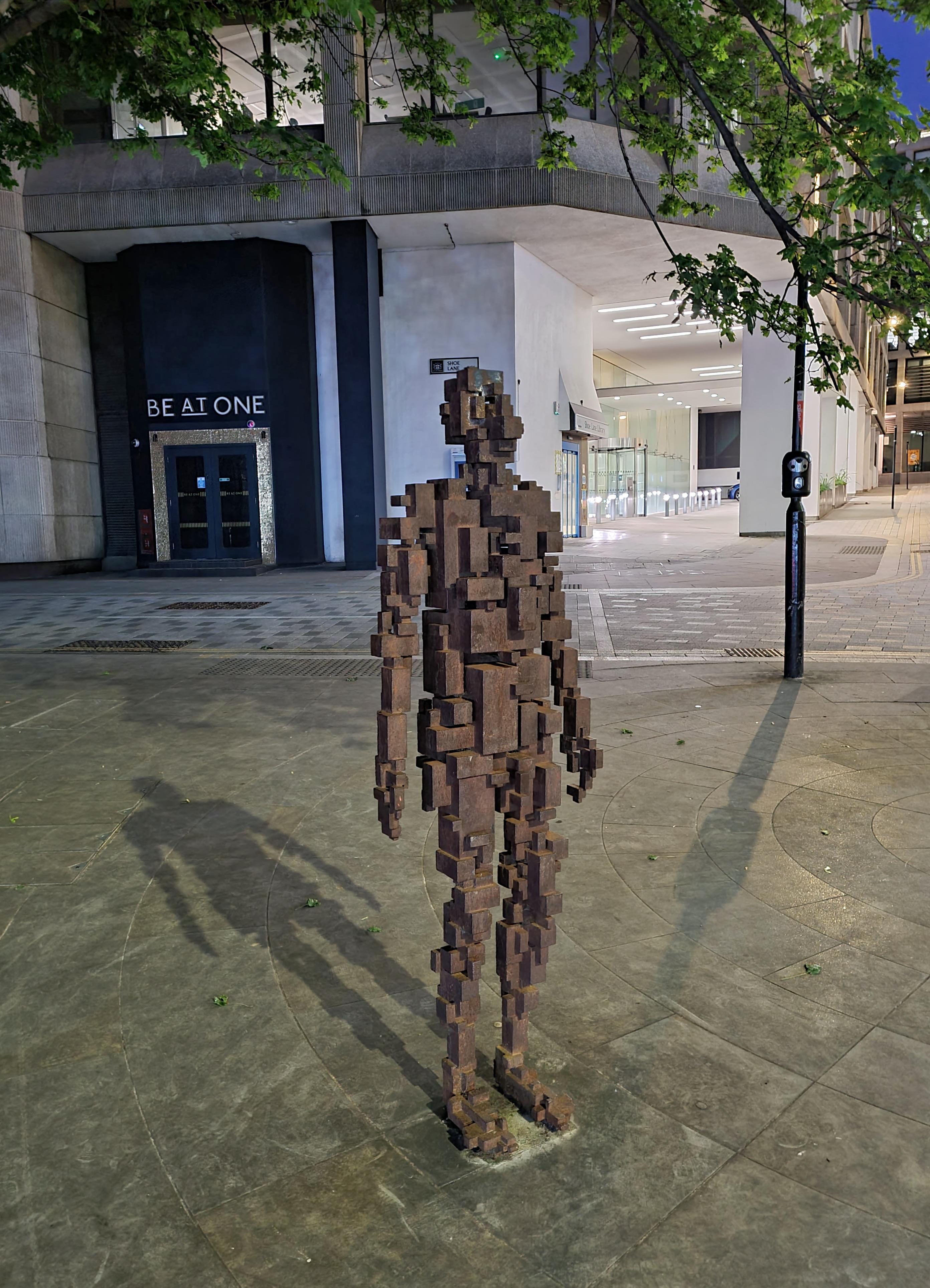 Resolution, by Antony Gormley. Corner of Shoe Lane and Bride Street, 2005