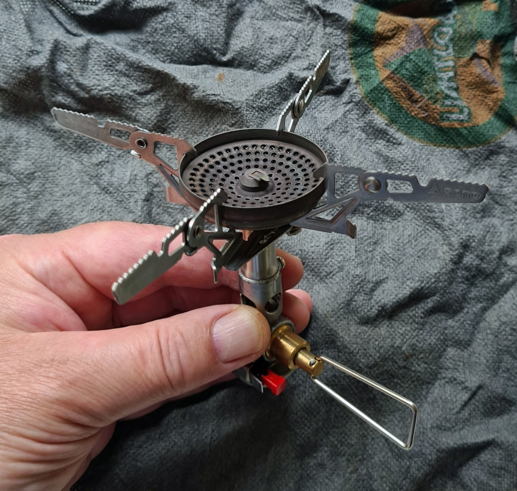 4Flex four prong pot support is wide and wil support heavier, larger pots than a solo hiker is likely to use