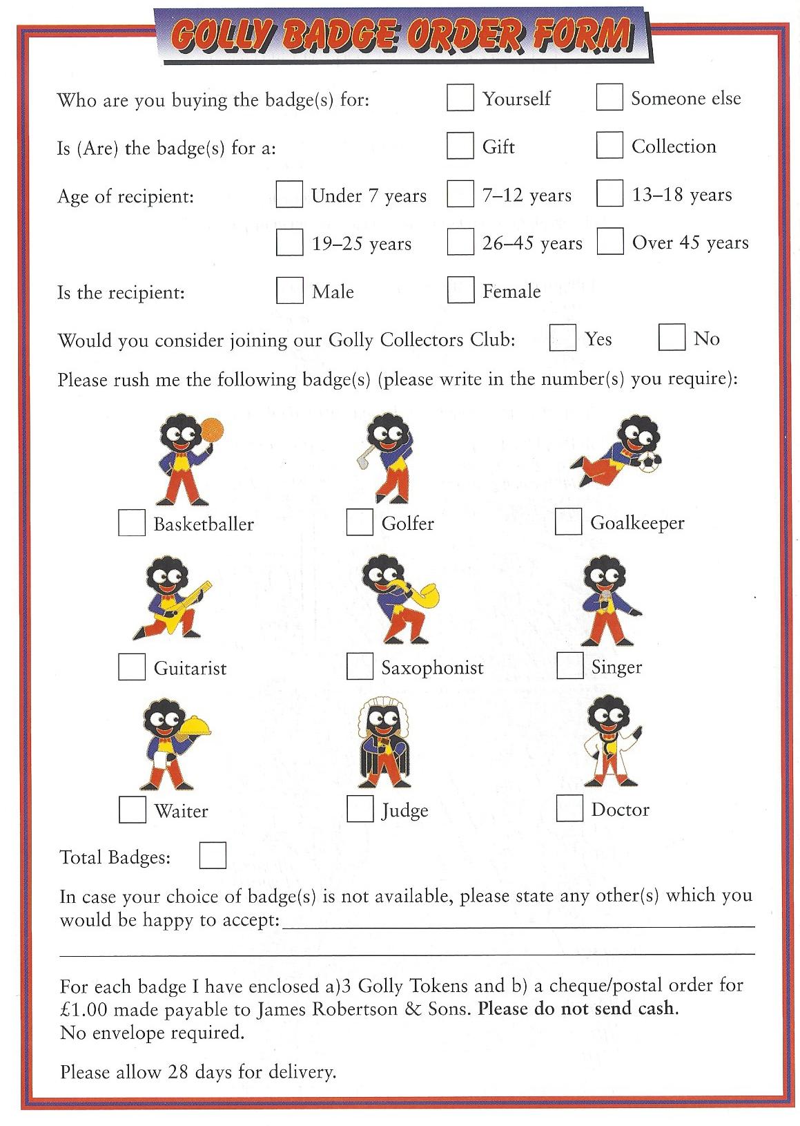 Order form 1998
