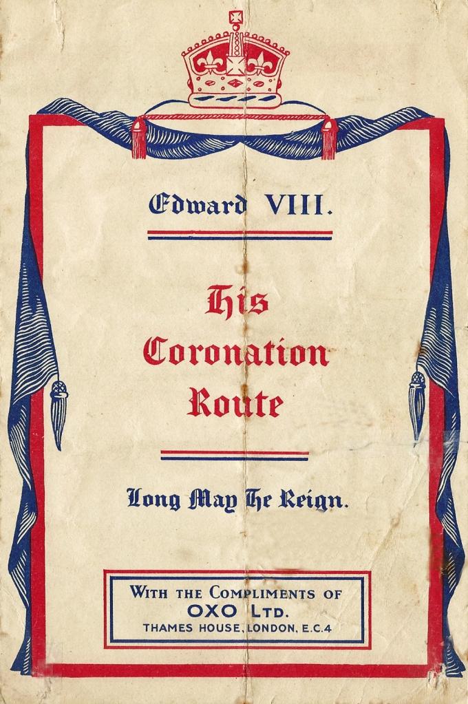 Oxo EviiiR coronation map, 1936