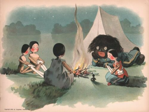 Illustration from Florence Upton from one of her popular 'Golliwogg' books