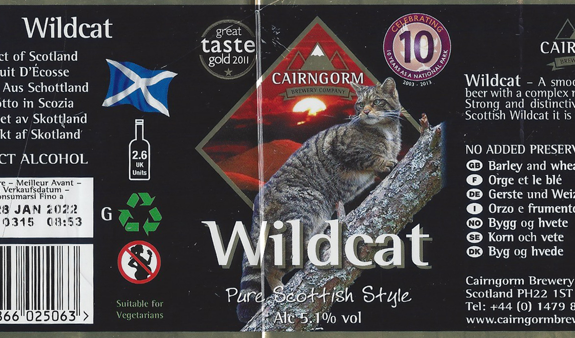 Wildcat beer from the Caigngorm Brwery