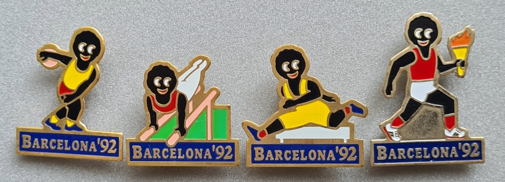 Set of four Gollys issued for 1992 Barcelona Olympics