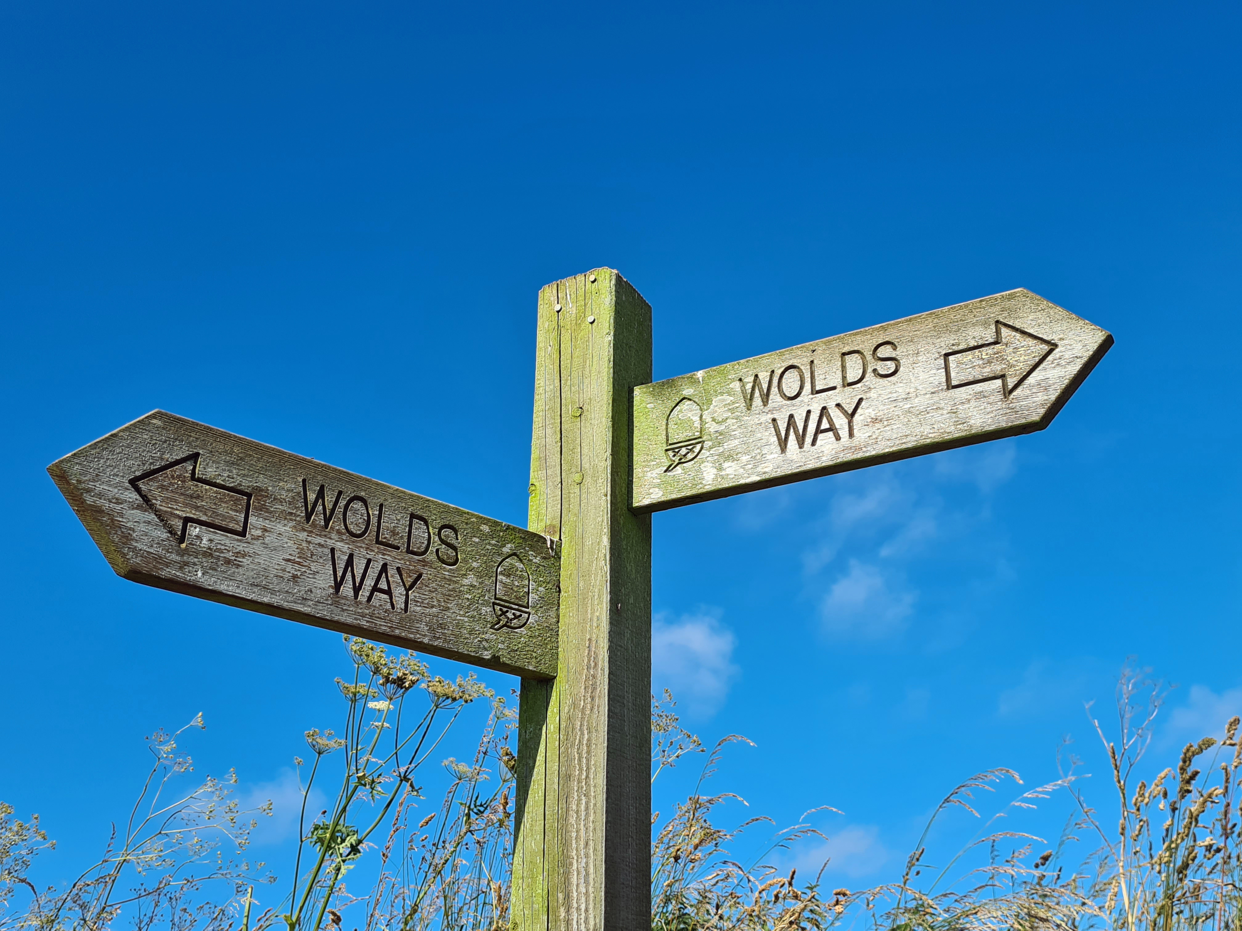 Yorkshire Wolds Way signage