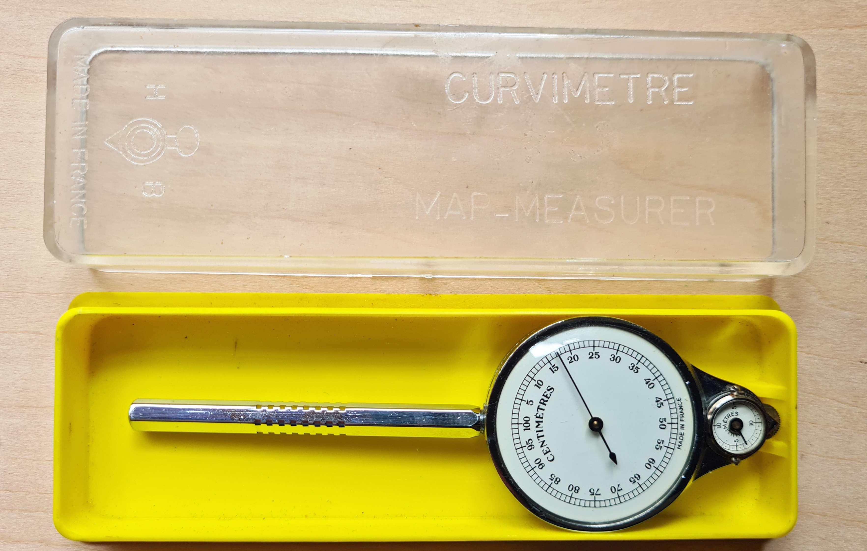 HB Curvimetre 54M in its plastic case