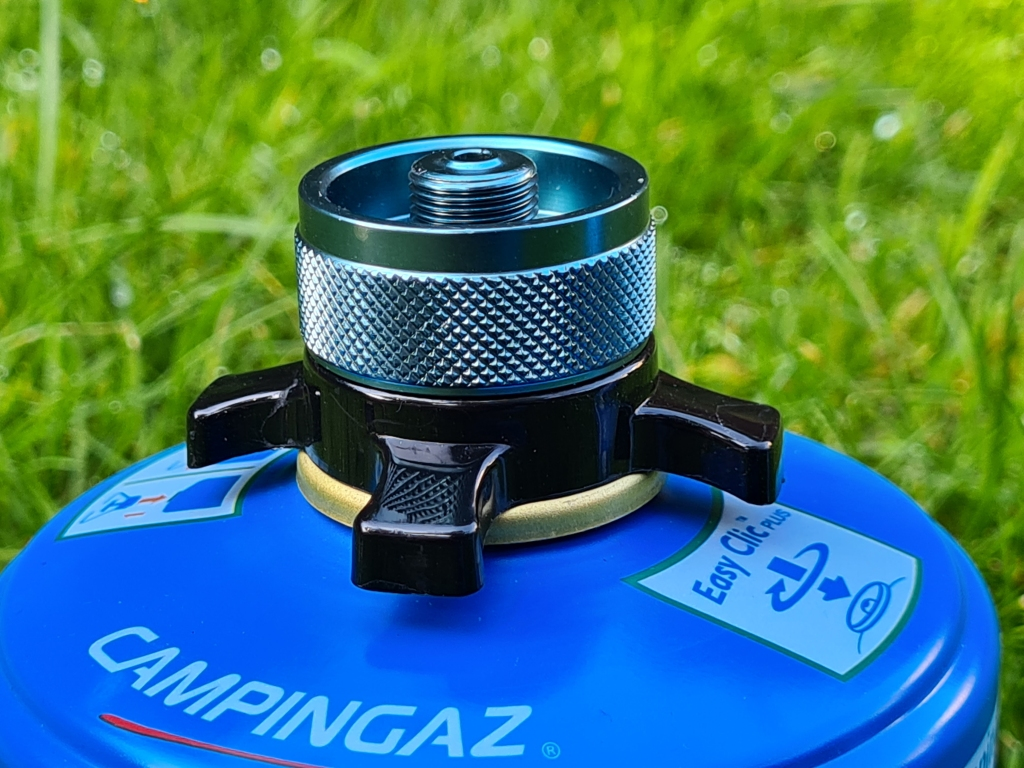 Campingaz CV300 Easy Clic Plus with Lindal valve adapter fitted