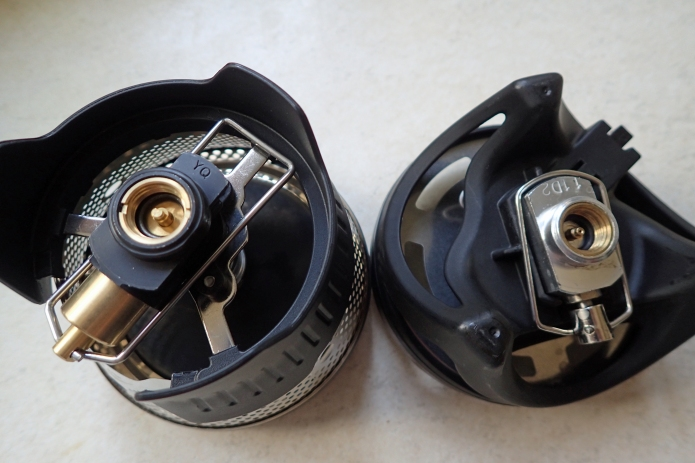 O-rings fitted to Jetboil Flash and MRS Windburner. I have had the o-rings work their way out of both of these connectors. A gentle push back and re-seating by screwing a canister on is all that is required. If lost, the stoves could not have been safely used