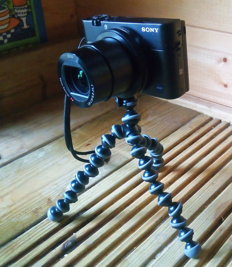 Gorillapod with my Sony RX100v while backpacking the Offa's Dyke Path