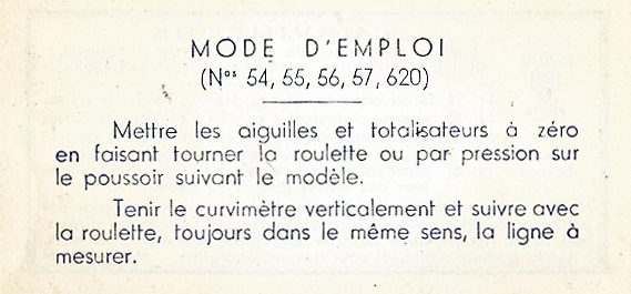 Second side of instructional leaflet informs on how to use the map measure