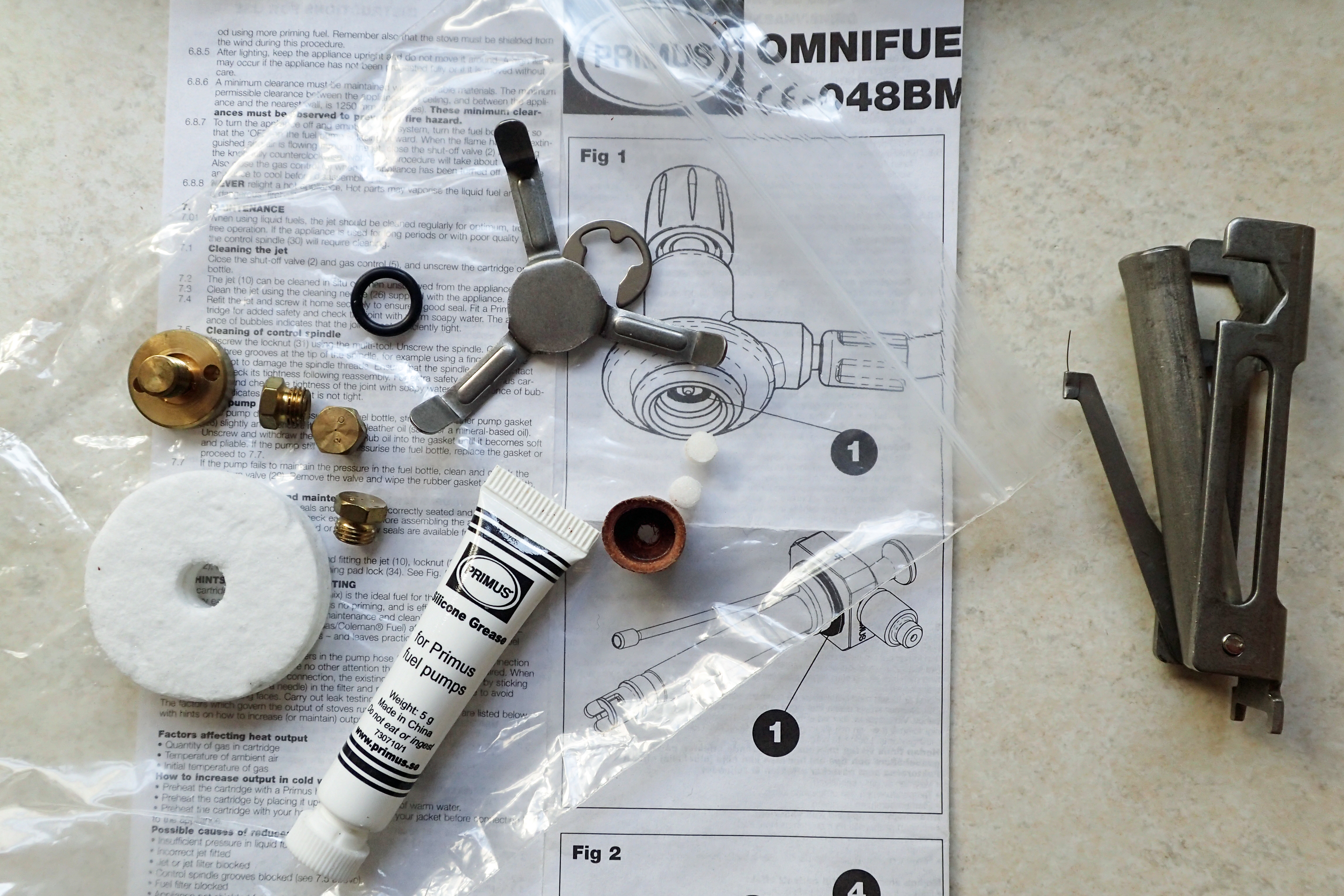 Service kit for Primus Omnifuel 3289 includes a single o-ring