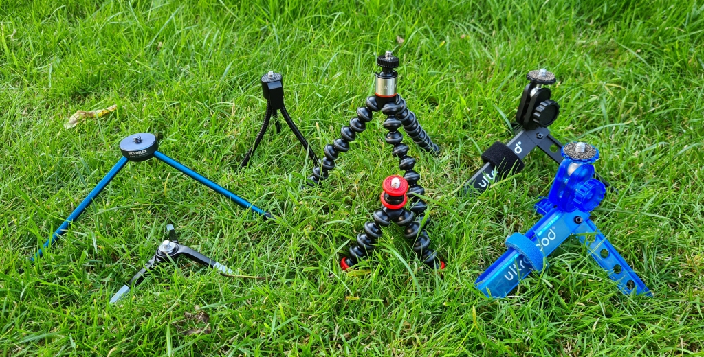 Seven lightweight tripods, some are excellent, a couple, not so good