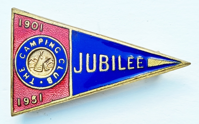 1951 Jubilee badge, available to members on the fiftieth anniversary of the club's creation