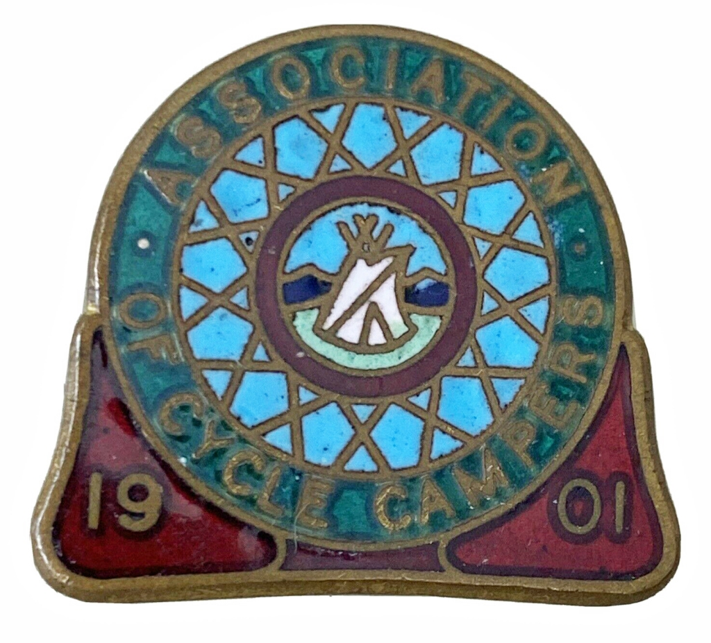 Association of Cycle Campers. Enamel badges were introduced in 1904