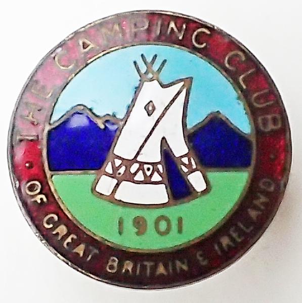 Enamel badge of The Camping Club of Great Britain & Ireland, 1920 – 1983