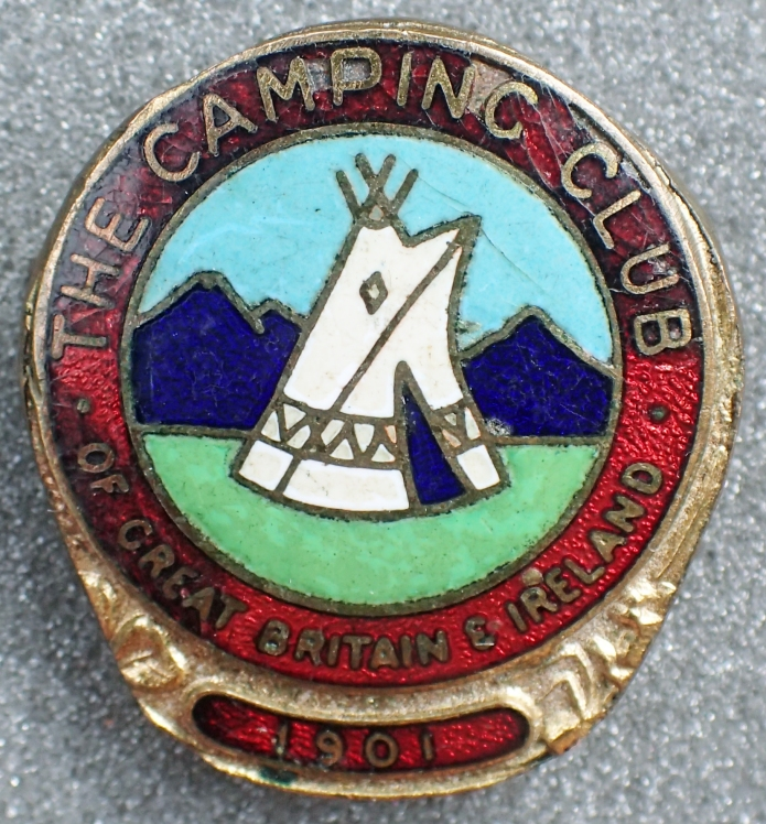 Enamel badge with gilt surround given to new members as a goodwill gesture. 1920-1950